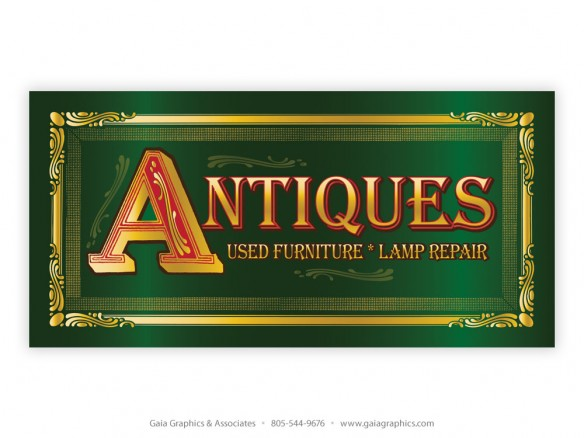 BROOKS WOODCRAFT ~ San Luis Obispo ~ Antiques Banner