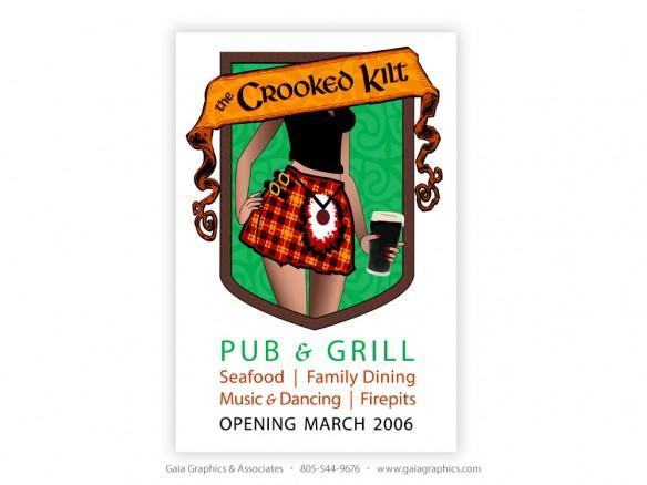 CROOKED KILT PUB & GRILL ~ 3' x 4'5