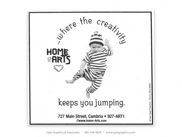 HOME ARTS ~ Cambria, California (New Times ad)
