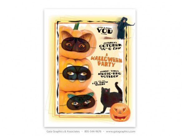 KATHI ~ Halloween Party Flyer ~ 8.5