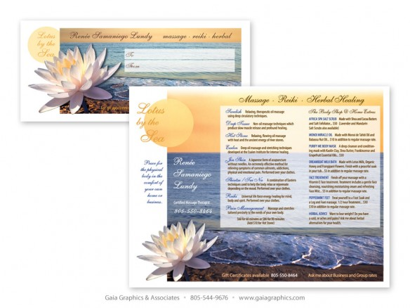 LOTUS BY THE SEA ~ Gift Certificate 8.5