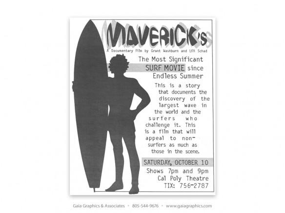 MAVERICKS ~ Surf Movie (New Times ad)