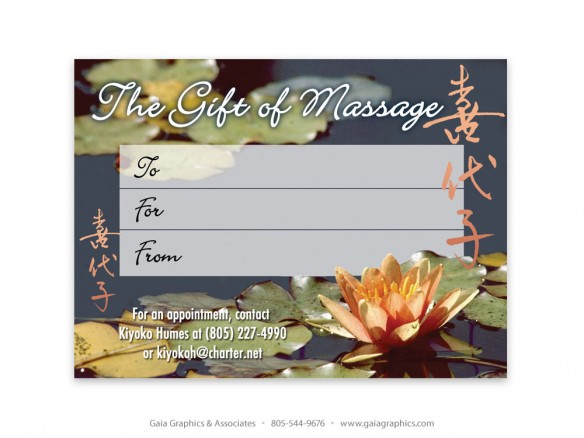 NATURAL REMEDIES ~ Gift Certificates ~ 5.5' x 4.25