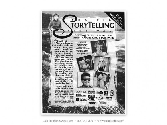 PACIFIC STORYTELLING FESTIVAL ~ Montaña de Oro State Park (New Times ad)