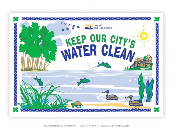 CITY of SAN LUIS OBISPO ~ Clean Water Booth ~ 9'6