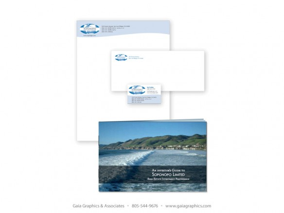 SOPONOPO INVESTMENTS ~ Business Cards, Letterhead, Envelopes and Brochure