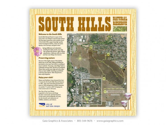 CITY of SAN LUIS OBISPO ~ South Hills Open Space Trails ~ 42