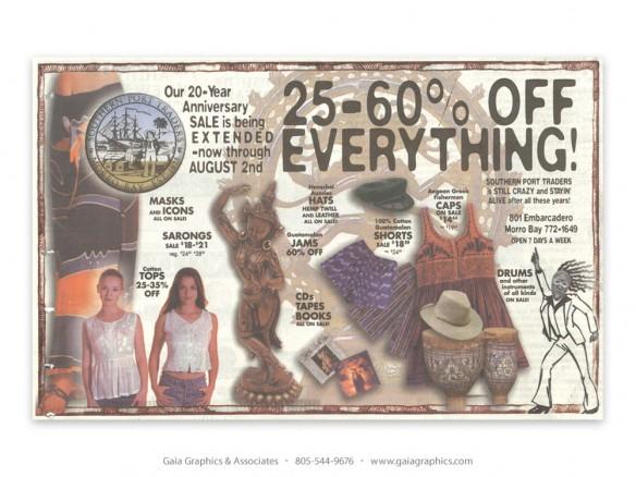 SOUTHERN PORT TRADERS ~ Morro Bay, California  (New Times ad)