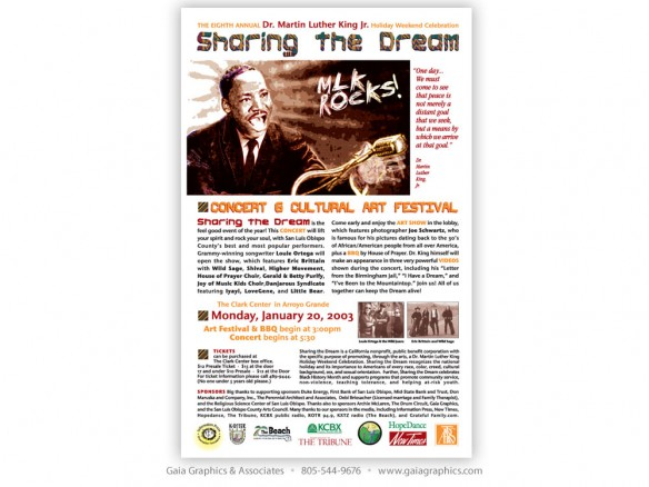 SHARING THE DREAM ~ Martin Luther King Concert & Cultural Art Festival