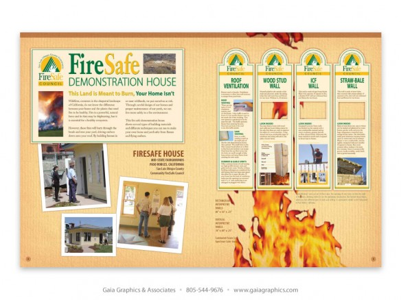 FIRE SAFE COUNCIL ~ Demo House permanent exhibit, Paso Robles, California (pp 8-9)